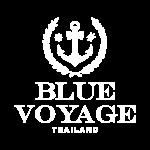 Blue Voyage Thailand - White Logo png